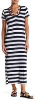 C&C California Soyla Short Sleeve Striped Dress