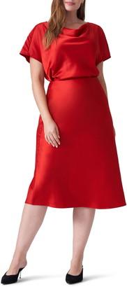 Universal Standard Ceecee Midi Bias Satin Skirt