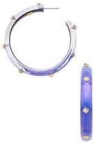 Alexis Bittar Lucite Gold Studded Hoop Earrings