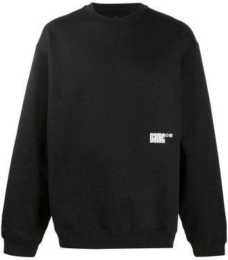 Oamc Black Cotton Sweatshirt