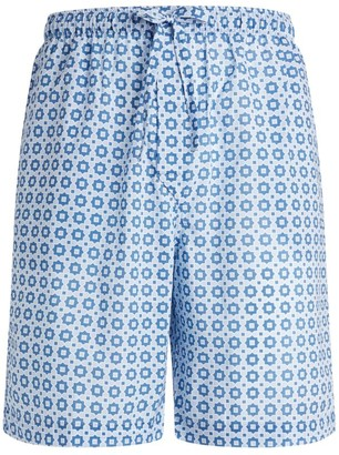 Derek Rose Tile Print Lounge Shorts