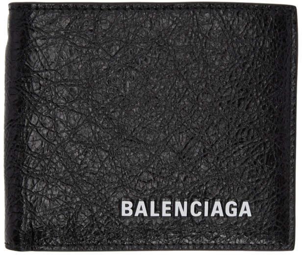 Balenciaga Black Logo Chain Wallet