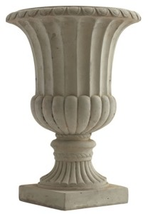 Nearly Natural 20.25-In. Large Sand Colored Urn Indoor/Outdoor