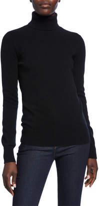 Neiman Marcus Basic Long-Sleeve Turtleneck Cashmere Sweater