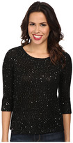 Mod-o-doc Sequin Sweater Knit Pullover