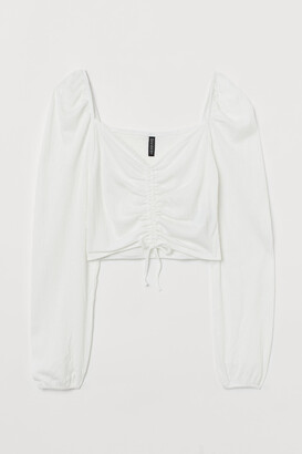 H&M Drawstring-front top