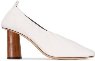 REJINA PYO Edie 80mm wooden heel pumps