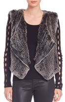 Elie Tahari Jana Rabbit Fur Draped Vest