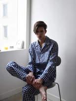 M Pajama Shirt Navy check