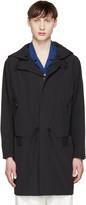 Tim Coppens Black Nylon Hooded Coat