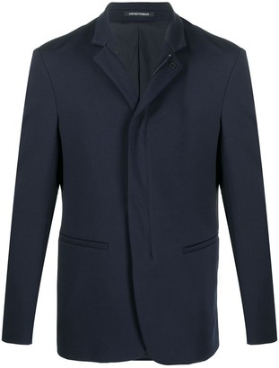 Emporio Armani High-Neck Fitted Jacket