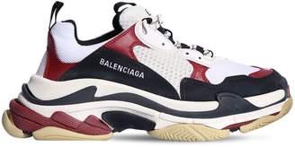 Balenciaga TRIPLE S LOGO EMBROIDERED SNEAKERS