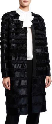 Lafayette 148 New York Premier Parissa Calf Hair & Curly Lamb Coat