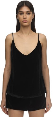 SLEEPING WITH JACQUES The Pm To Am Velvet Camisole Top