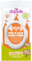 Dapple Everything Travel Wipes - Fragrance-Free - 45 ct
