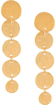 Kenneth Jay Lane 5 Coin Drop Earrings