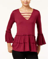 Miss Chievous Juniors' Ruffled Strappy Peasant Top