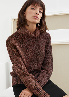 And other stories Relaxed Glitter Turtleneck