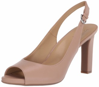 Naturalizer Womens Grace Black Smooth Slingback Heels 7 W