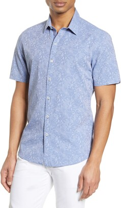 Zachary Prell Kunichika Printed Short Sleeve Regular Fit Shirt