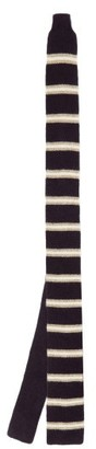 Brunello Cucinelli Striped Knitted-cashmere Tie - Blue Multi