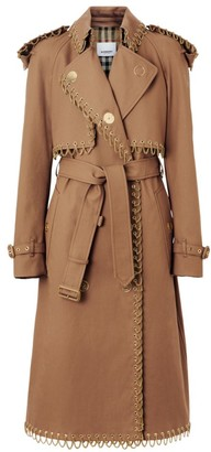 Burberry Chain-Trim Trench Coat