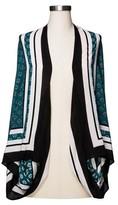 Merona Women's Plus Size Printed Cocoon Cardigan