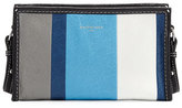 Balenciaga Bazar Colorblock Leather Shoulder Bag, Blue