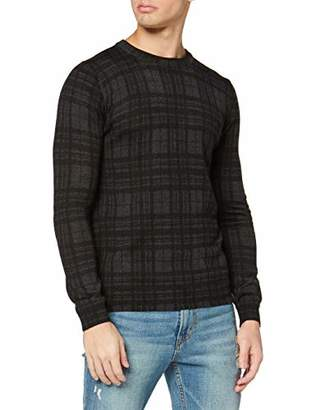 Antony Morato Men's Maglia Girocollo Stampa Tartan Black All Over Jumper,X