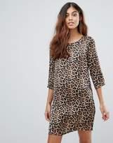 Vero Moda Leopard Print Shift Dress
