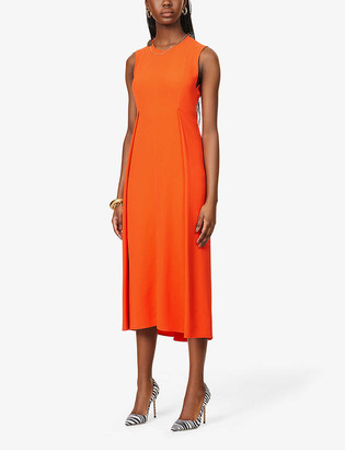 Victoria Beckham Sleeveless crepe midi dress
