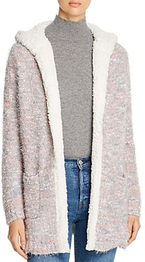Alison Andrews Hooded Textured Open Cardigan