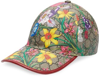 Gucci GG Flora print baseball cap