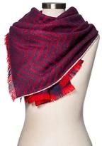 Merona Women's Blanket Scarf Red/Navy