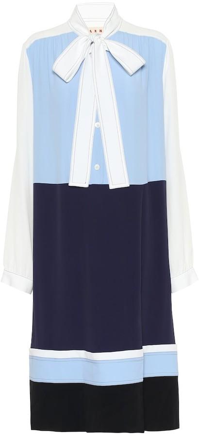 Marni Crepe midi shirt dress