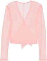Ballet Beautiful - Mesh Wrap Top - Pastel pink