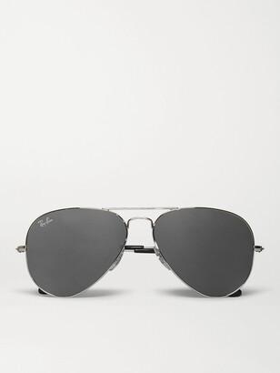 Ray-Ban Aviator Silver-Tone Sunglasses - Men - Silver
