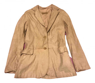 Non Signã© / Unsigned Beige Suede Leather jackets