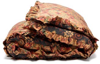 Preen by Thornton Bregazzi Small Floral-print Satin Quilted Eiderdown - Brown Print