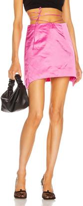 Helmut Lang Satin Mini Skirt in Disco Pink | FWRD