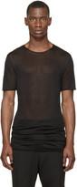 Thamanyah Black Sheer Minimal Mist T-Shirt