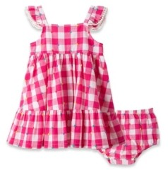 Little Me Baby Girls Gingham Woven Sundress and Bloomer Set, 2 Piece