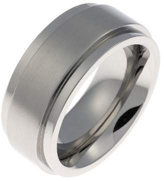 Schumann Design Engagement/Wedding Ring, Stainless Steel, 10Mm Band Width - Size O 1/2