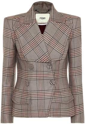 Fendi Checked wool jacket