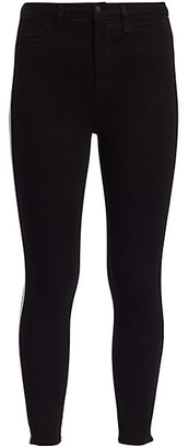 L'Agence Margot High-Rise Skinny Racing Stripe Jeans