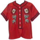 Gucci Embroidered Duchesse Baseball Shirt