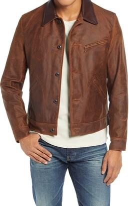 Schott NYC Leather Mechanics Jacket