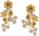 Jennifer Behr flower clip-on earrings