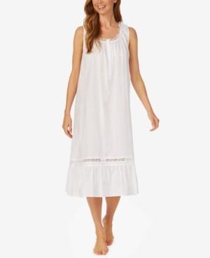 Eileen West Cotton Sleeveless Long Nightgown