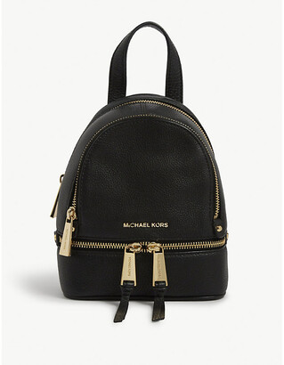 MICHAEL Michael Kors Michael Kors Women's Black Rhea Extra-Small Leather Backpack